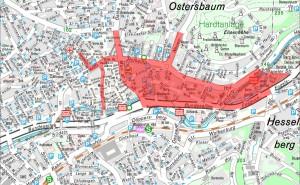Übersicht der am Samstag gesperrten Straßen