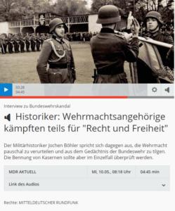 zeigt einen Screenshot vom Radio Interview mit Jochen Böhler